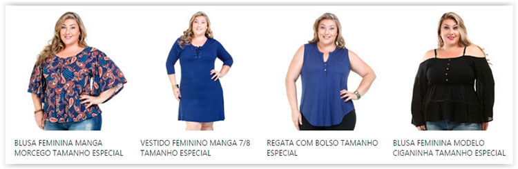 roupas para obesos