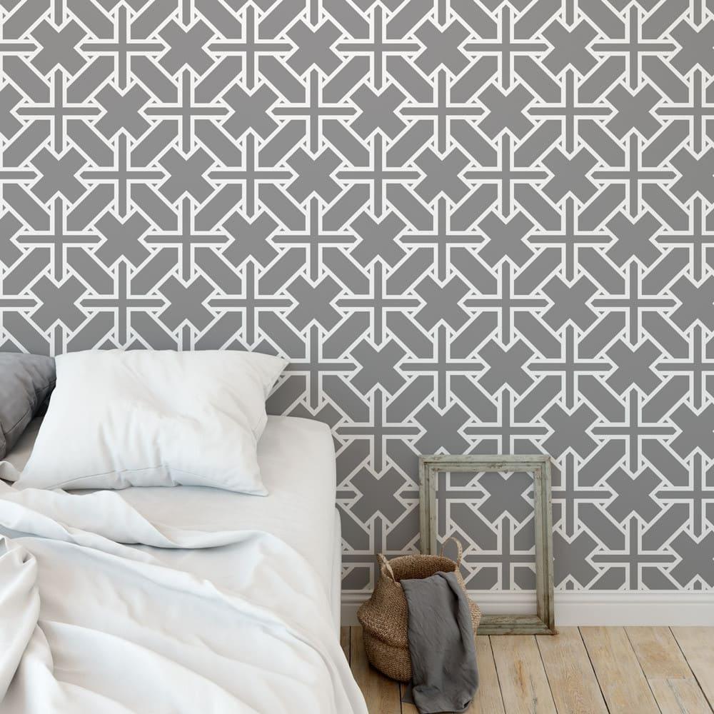 papel de parede geométrico para quarto